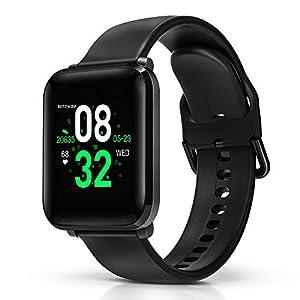 BlitzWolf Smartwatch, Reloj Inteligente IP68 Impermeable, HD Pantalla de 1.3 Pulgadas, Pulsera Actividad, con Pulsómetro, Podómetro, Monitor de Sueño, Reloj Deportivo para Hombre Mujer 2