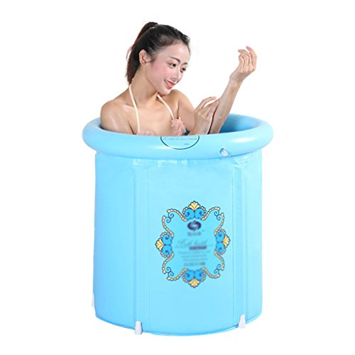 Aufblasbare Badewanne faltbare Badewanne tragbare Isolierung Badewanne für Erwachsene Badewanne aus Kunststoff Whirlpool Badewanne Whirlpool Familienbadezimmer ( Color : Blue , Size : 65*70cm )