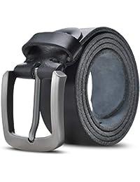 f6ed618ccd Lychee Cintura Uomo in Vera pelle,100% italiana Cintura,Fibbia in Metallo  Classico
