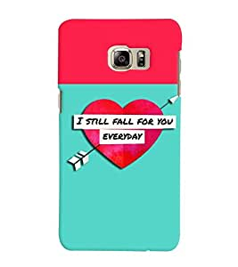 Fuson 3D Printed Love Designer back case cover for Samsung Galaxy S6 Edge Plus - D4294