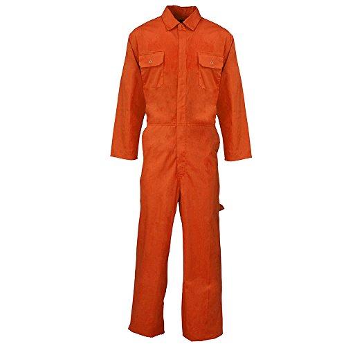 Overall für Erwachsene, Arbeitskleidung, in Großbritannien entworfen Gr. XXXXL, Orange