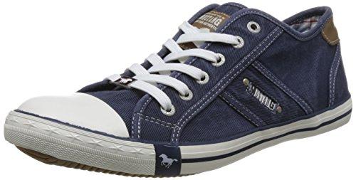 Mustang Herren 4058-305-800 Sneaker, Blau (Dunkelblau 800), 41 EU (Old-school-schuh)