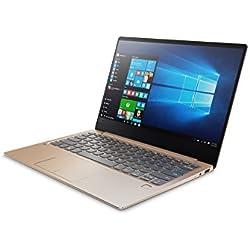 """Lenovo Ideapad 720S-13IKB - Ordenador Portátil de 13.3"""" FullHD (Intel Core I7-7500U, RAM de 8 GB DDR4, SSD de 512 GB, Intel HD Graphics 620, Windows 10 Home 64 bit), dorado - Teclado QWERTY Español"""