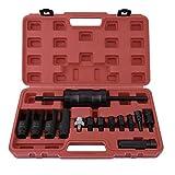 Newgreenca 14pcs Brennstoff-Common-Rail-Injektoren Puller Ausziehsatz Slide Hammer Removal Tool