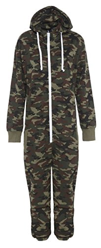 armee 13 Jahre Stacy Unisex-Kinder Armee Camouflage-Muster Kapuzen Overall Onesie