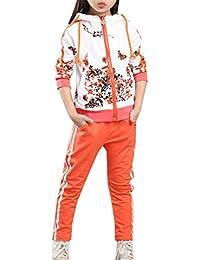 45a623415 Lopetve Niños Niña Flor del largo de la manga de impresión pantalones de  chándal + Trajes