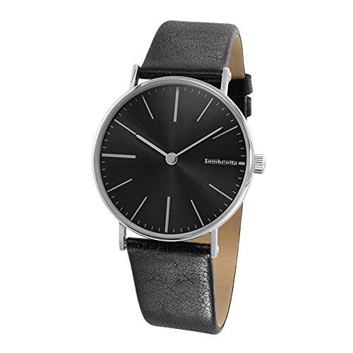 Lambretta 2182/BLA - Reloj, correa de cuero color negro