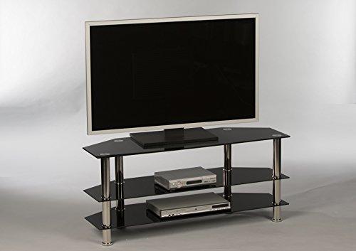 Stella Trading Lowboard Novare 16835 TV-Möbel Fernsehmöbel TV-Untergestell Weiß Hochglanz /