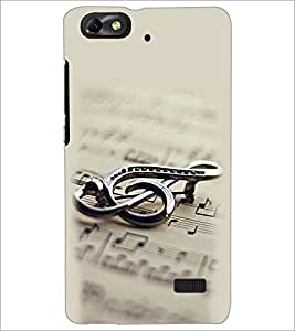 PrintDhaba Staff Notation D-2149 Back Case Cover for HUAWEI HONOR 4C (Multi-Coloured)
