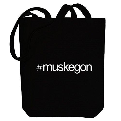Idakoos Hashtag Muskegon - US Städte - Bereich für Taschen