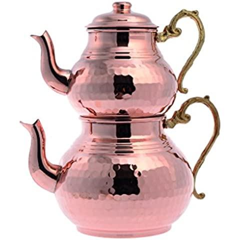 Handmade Engraved Hammered Unique 100% Solid Copper Polished Tea set Kettle set