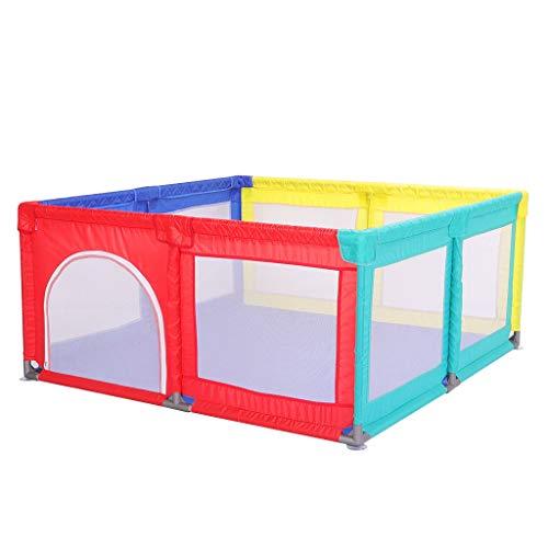 WYQ Laufgitter Große Baby-Zaun-Spielecke, Baby-Playpens, Sicherheits-Spielplatz für Babys und Kinder (Blau, Farbe) Laufstall (Farbe : Farbe, größe : 180×190x70cm)