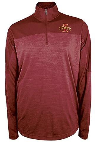 NCAA Iowa State Cyclones Zone Blitz Quarter Zip Pullover, Small, True Cardinal