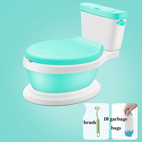 Toilettes pour enfants Bébé enfant en bas âge Potty Training Potty toilettes chaise de formation de toilette pour les tout-petits - haut dos bébé Potty's 2 en 1 tabouret pour enfants vert rose 42 * 28