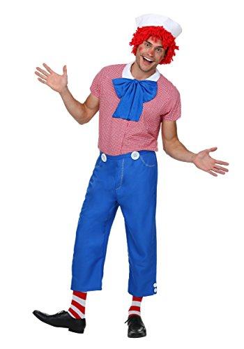 Andy Raggedy Kostüm Für Erwachsene - Fun Costumes Erwachsenes Raggedy Andy-Kostüm - L