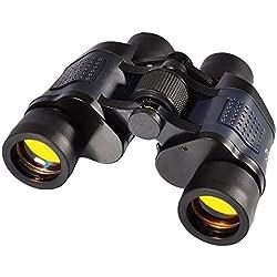 IN THE DISTANCE Alta Potencia HD 10000M 60X60 Binoculares Telescopio Óptico De Zoom Fijo De Alta Claridad LLL Visión Nocturna Binocular para Caza Al Aire Libre (Color : Black)