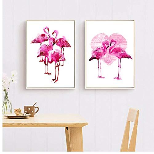 Wandbild Wandbild Flamingo
