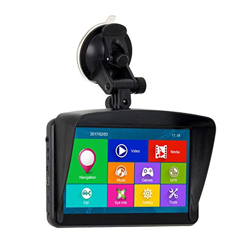 XGODY 884 NAV 16 GB 128 MB GPS Navigationssystem Satelliten-Navigator 7 Zoll kapazitiver Touchscreen vorgeladen UK und EU Neueste 2018 Karten lebenslange kostenlose Update