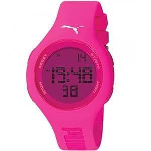Puma Time - A.PU910801002 - Montre Femme - Quartz - Digitale - Chronomètre - Bracelet plastique rose