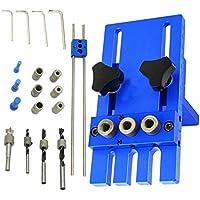 Localizador De Taladrado, Herramienta De Guía De Taladrado De Madera Aleación De Aluminio Body1.6Kg / 3.53Lb Blue