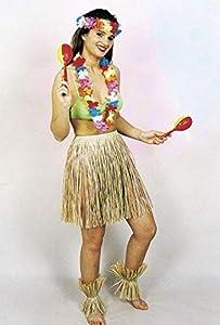 Grass Skirt. Adult 50cm.Plain (disfraz)