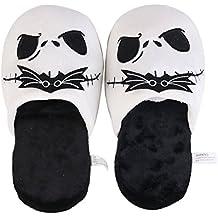 K.MAX Divertente morbide pantofole peluche caldi Jack Skeletron, Piano di inverno carino accogliente morbido scarpe Pantofole di cotone coperta adulto unisex 35-40,28cmx13cm