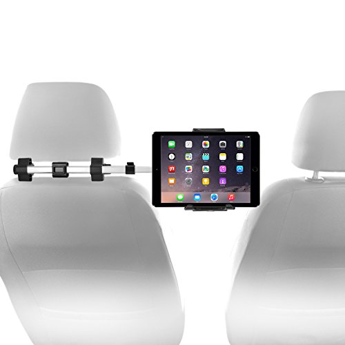 Macally Tablet Auto Kopfstütze Halterung für Apple iPads und Tablets 11,4cm zu 25,4cm breit mit Dual verstellbar und 360° drehbar (hrmountpro)