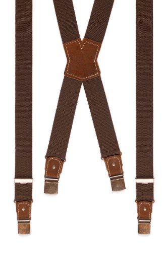Trachten Hosenträger - SIMPLE-DUNKEL - braun, Größe 110 cm