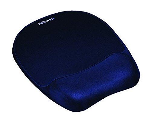 Fellowes Memory Foam - Alfombrilla con reposamuñecas para ratón, azul oscuro