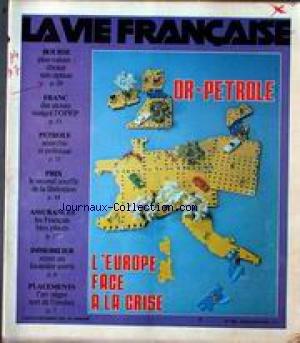 VIE FRANCAISE (LA) [No 1802] du 24/12/1979 - BOURSE - FRANC - PETROLE - PRIX - ASSURANCES - IMMOBILIER - PLACEMENTS - OR-PETROLE - L'EUROPE FACE A LA CRISE.