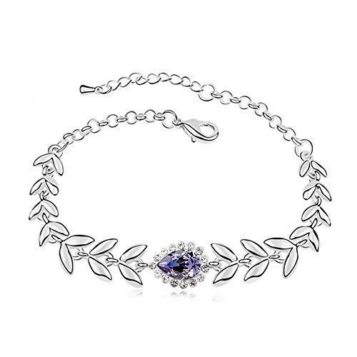 BinSanda Schönes Geschenk Armband Extravaganz Luxus Elegantes Armband - Blatt Design Premium...