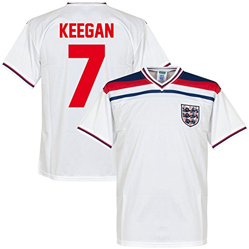 ScoreDraw 1982 England Home Retro Trikot + Keegan 7 - XL