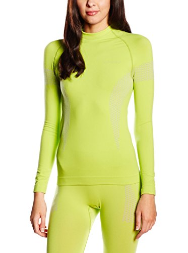 SPAIO Thermo T-Shirt Manches Longues Femmes, Citron Vert, XL