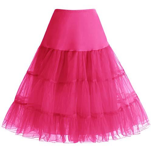 bbonlinedress Organza 50s Vintage Rockabilly Petticoat Underskirt Rose ()
