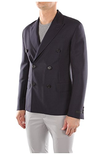 UGT894NAVY Prada Homme Mohair Bleu Bleu
