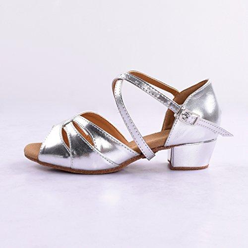 Kevin Fashion ,  Mädchen Tanzschuhe Plateado - plata