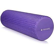 Navaris Rodillo para Pilates de 45CM - Rodillo de Espuma para Masaje Fitness y Yoga -