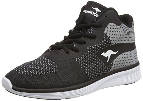 KangaROOS 8020 Unisex-Erwachsene Sneakers Schwarz (black/mid grey 523)