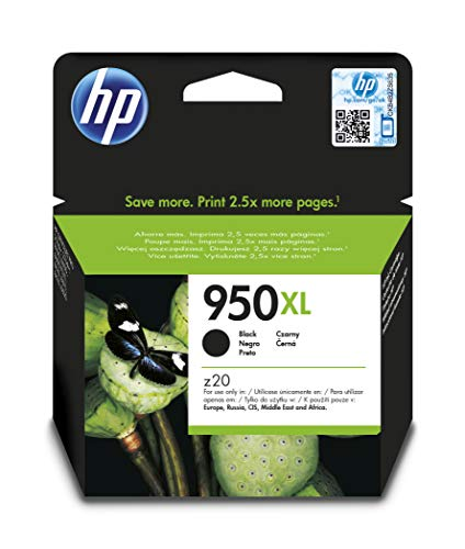 100% Neu Toner Patrone (HP 950XL Schwarz Original Druckerpatrone mit hoher Reichweite für HP Officejet Pro 276dw, 8600, 8610, 8620, 251dw, 8100)