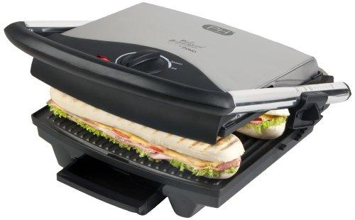 Domo DO9037G Sandwich-Maker mit großer Grillplatte, Kontakt-Tischgrill mit 2000 Watt Leistung für eine schnelle Zubereitung von Panini, Toast, Fleisch, Fisch