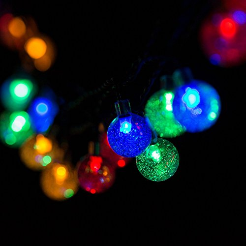 H&D Youngsun® 40er LED Solar Lichterkette Globe 7,85 Meter Außen Innen Outdoor Garten Kugel Party Fest Deko Weihnachten Hochzeit Beleuchtung bunt