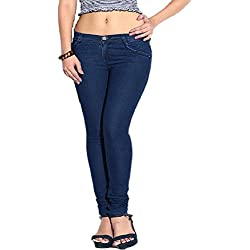 Ganga Women's Denim Pants (BLU40728_30_Blue_30)
