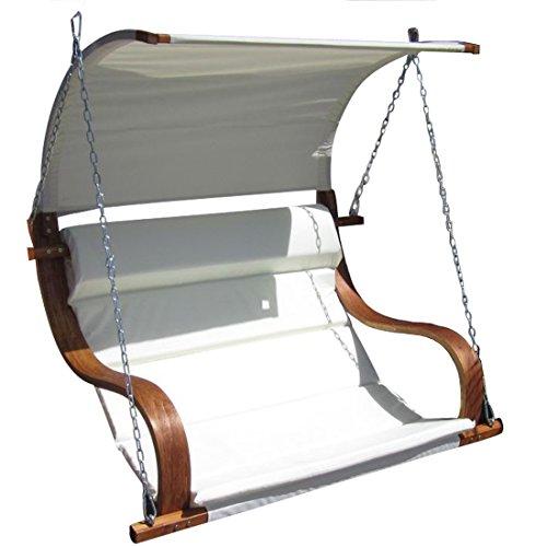 ASS Design Sitzbank für Hollywoodschaukel Seat-MERU aus Holz Lärche inkl. Dach (Ohne Gestell!!) von