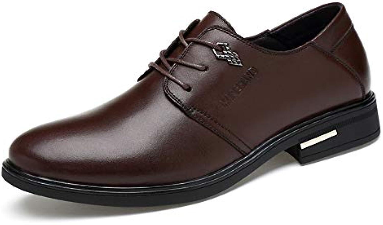 XHD-Scarpe Men's Simple Business Oxford Casual Scarpe Scarpe Scarpe Classiche tonde Classiche con Punta Arrossoondata   prezzo al minuto  278549
