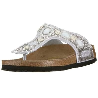 papillio kerala 309041 damen sandalen zehentrenner wei silber glamour eu 35 mit. Black Bedroom Furniture Sets. Home Design Ideas