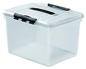 Curver 183124 Optima Box 30 L -Transparent / Transparent Noir