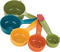 AADYA Set Of 5 Pieces Multicolor Kitchen Cooking Baking Measuring Spoons Cups - Imperial And Metric Measurers