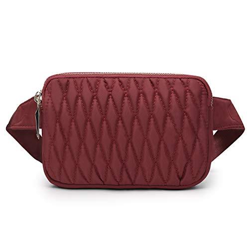 Wind Took Mode Damen Gürteltasche Bauchtasche Hüfttasche Schultertasche für Reise Alltag Outdoor Mini,18 x 4 x 12 cm, Rot Rot 12