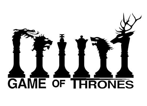 Preisvergleich Produktbild Game of Thrones beliebten Serie Cult Schach – einfach anzubringen Vinyl Aufkleber Spaß und Cool für Laptops MacBooks Home Verbesserung und Dekorationen ein tolles Geburtstagsgeschenk