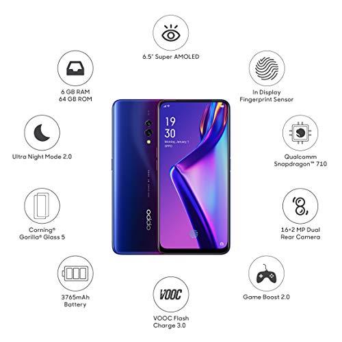 OPPO K3(Aurora Blue, 6GB RAM, 64GB Storage)
